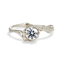 White gold diamond engagement ring by Olivia Ewing Jewelry