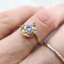 14K yellow gold earthy diamond engagement ring by Olivia Ewing Jewelry