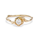 Petite Naples White Sapphire Solitaire Ring by Olivia Ewing Jewelry