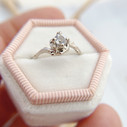White gold tree inspired engagement ring by Olivia Ewing Jewelry