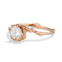 White sapphire twig engagement ring by Olivia Ewing Jewelry