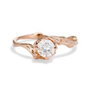Naples White Sapphire Solitaire Ring by Olivia Ewing Jewelry