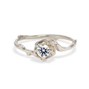 Petite Naples Moissanite Solitaire Ring by Olivia Ewing Jewelry