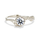 Naples Moissanite Solitaire Ring by Olivia Ewing Jewelry