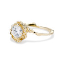 Nature inspired Moissanite engagement ring by Olivia Ewing Jewelry