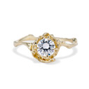 Large Naples Moissanite Solitaire Ring by Olivia Ewing Jewelry