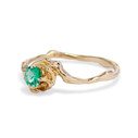 Emerald twig engagement ring by Olivia Ewing Jewelry