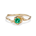 Petite Naples Emerald Solitaire Ring by Olivia Ewing Jewelry