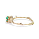 Alternative engagement ring with emerald by Olivia Ewing Jewelry