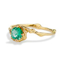 Vibrant green engagement ring for her by Olivia Ewing Jewelry