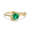 Naples Emerald Solitaire Ring by Olivia Ewing Jewelry