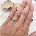 Engagement ring with emerald by Olivia Ewing Jewelry