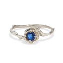 Petite Naples Sapphire Solitaire Ring  by Olivia Ewing Jewelry