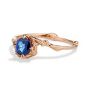 Unique sapphire engagement ring by Olivia Ewing Jewelry