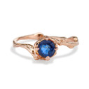 Naples Sapphire Solitaire Ring by Olivia Ewing Jewelry