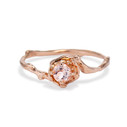 Petite Naples Morganite Solitaire Ring by Olivia Ewing Jewelry