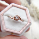 Morganite rose gold engagement ring by Olivia Ewing Jewelry