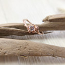 Pink stone engagement ring by Olivia Ewing Jewelry