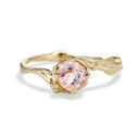 Naples Morganite Solitaire Ring by Olivia Ewing Jewelry