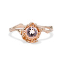 Large Naples Morganite Solitaire Ring by Olivia Ewing Jewelry