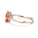 Unique morganite ring by Olivia Ewing Jewelry
