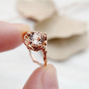 Large morganite engagement ring by Olivia Ewing Jewelry
