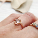 Rose gold morganite ring by Olivia Ewing Jewelry