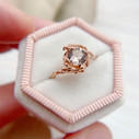 Morganite design engagement ring by Olivia Ewing Jewelry