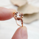 Morganite ring by Olivia Ewing Jewelry