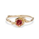 Petite Naples Ruby Solitaire Ring by Olivia Ewing Jewelry