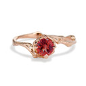 Naples Ruby Solitaire Ring by Olivia Ewing Jewelry