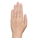 Women's feather wedding ring by Olivia Ewing Jewelry