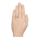 Men's silver wedding ring by Olivia Ewing Jewelry