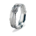 Men's feather wedding band by Olivia Ewing Jewelry