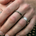 Feather wedding ring by Olivia Ewing Jewelry