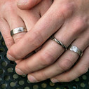 Men's silver wedding rings by Olivia Ewing Jewelry