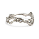 14K white gold textured wedding band by Olivia Ewing Jewelry
