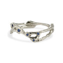 Unique sapphire wedding band by Olivia Ewing Jewelry
