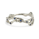 Naples Sapphire Double Contour Ring by Olivia Ewing Jewelry