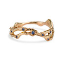 14K rose gold twisted twig contour band by Olivia Ewing Jewelry