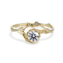 Naples Moissanite Half Halo Ring by Olivia Ewing Jewelry