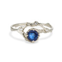 Naples Sapphire Half Halo Ring by Olivia Ewing Jewelry