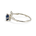 Sapphire engagement ring by Olivia Ewing Jewelry
