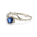 Unique sapphire ring by Olivia Ewing Jewelry