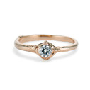 Calais Moissanite Bezel Ring by Olivia Ewing Jewelry