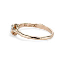 Bezel set moissanite solitaire engagement ring by Olivia Ewing Jewelry
