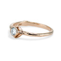 Twig moissanite engagement ring by Olivia Ewing Jewelry