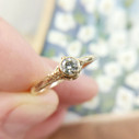 Bezel set diamond engagement ring by Olivia Ewing Jewelry