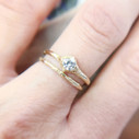Low profile diamond ring by Olivia Ewing Jewelry