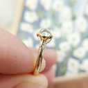Bezel set engagement ring by Olivia Ewing Jewelry